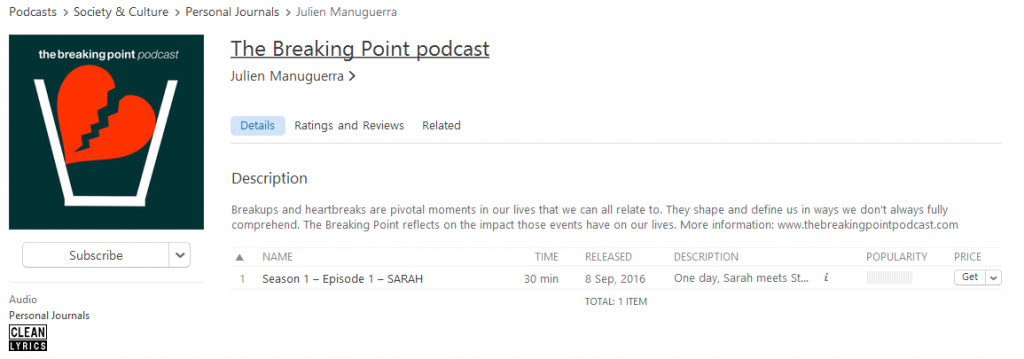 iTunes The Breaking Point podcast image